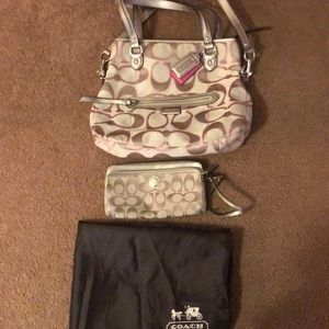 COACH original with clutch and cover